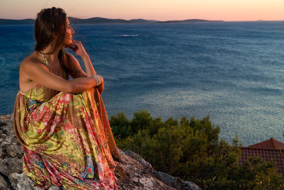 fine art portrait of a woman in dress