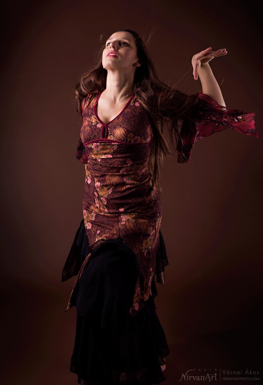 fotó Fodor Rékáról tánc közben