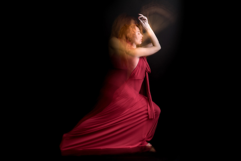 long exposure photo of a girl in dress