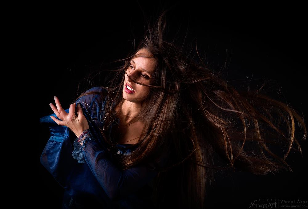 portré fotó : Fodor Réka flamenco közben