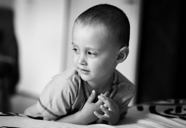 portré fotó egy kisfiúról
