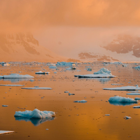 905 Antarctic Sunset--Atmospheric Light--Penola Strait--Antarctic Peninsula