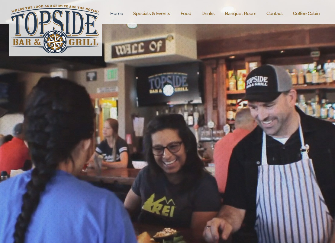 Topside Bar & Grill Website