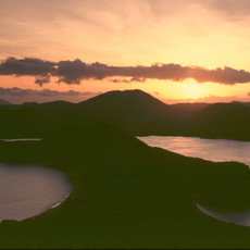 1015 Bartolomé Sunset--Pinnacle Rock--Icon of Galapagos