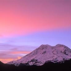 1405 Mount Rainier--Pink Sunset