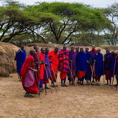 1324 Masai Village--Men--Tanzania