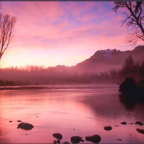 1400 Stillaguamish River--Sunrise--North Cascade Mountains