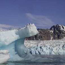1935 Glaciar and Iceberg--Svalbard