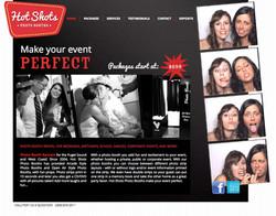 Hot Shots Photo Booths Website