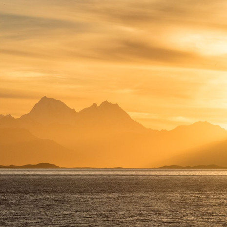 910 Sunset--Beagle Channel--Tierra del Fuego--Chile