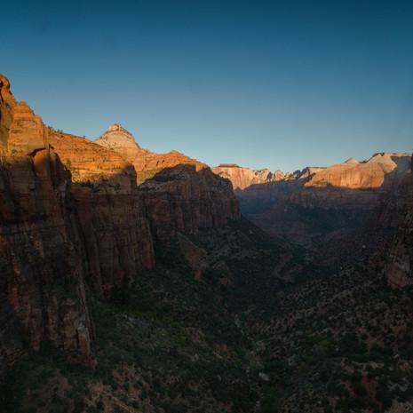 1603 Sunrise on Canyon--Zion National Park--Utah