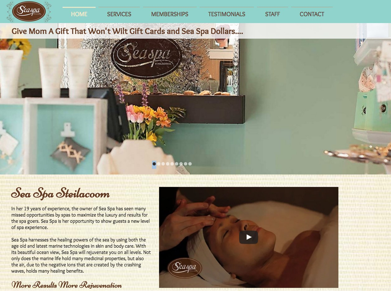 Sea Spa Website