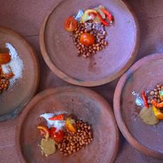 1312 Making Peanut Sauce--Indonesia