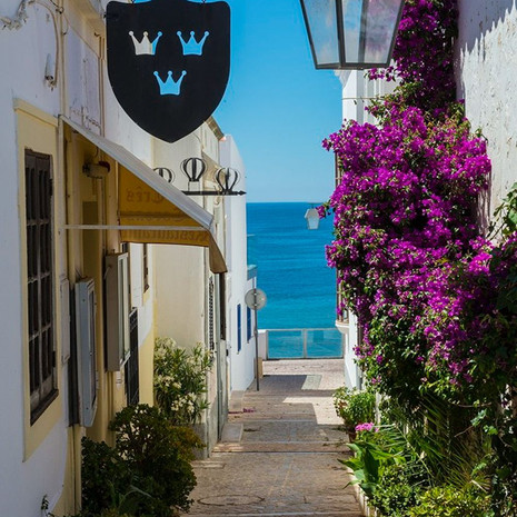 1702 Street above the Sea--Albufeira--Portugal
