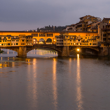 1717 Ponte Vecchio--Evening Light--Florence Italy