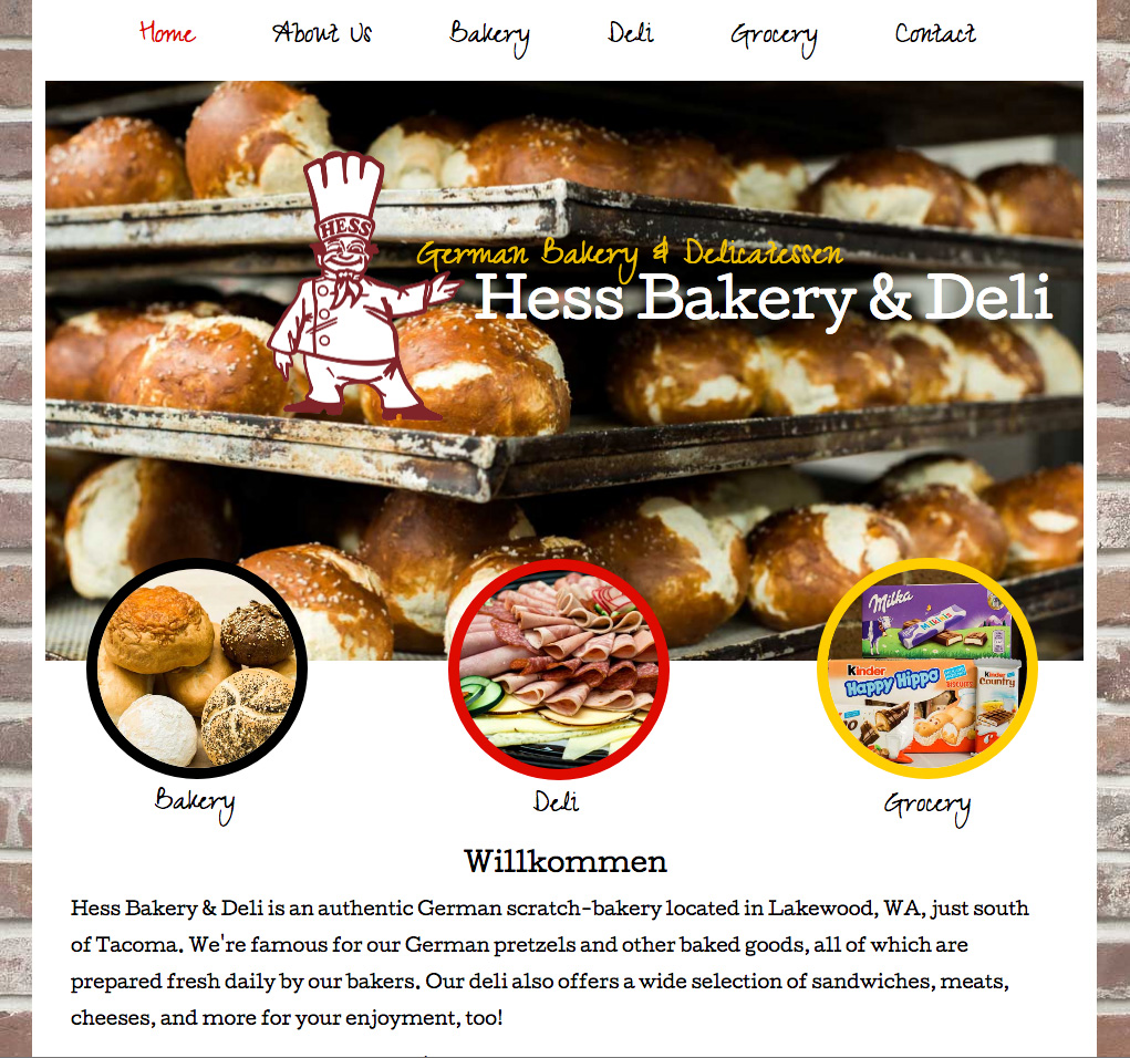Hess Bakery Website