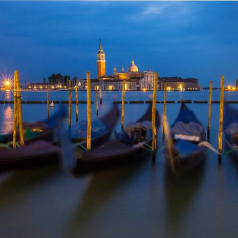 1700 Gondolas--Early Morning--Venice Italy