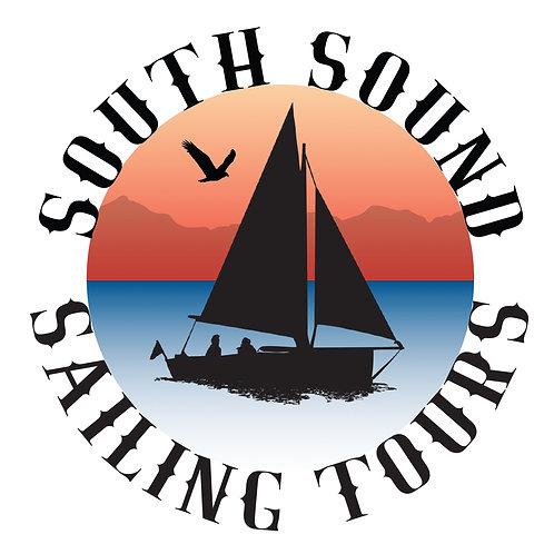 """3"""" SSST Logo Sticker - round"""