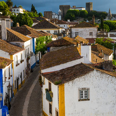 1724 Obidos--Town Rooftops--Portugal