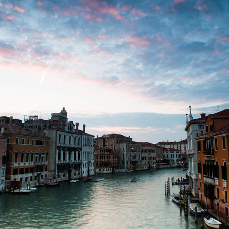 1711 Grand Canal--Evening--Venice--Italy