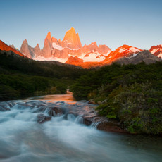 803 Fitzroy--River Sunrise--Patagonia--Argentina