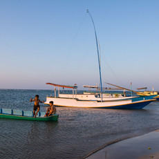 1311 Kids and Fishing Boats--Masakambing--Indonesia
