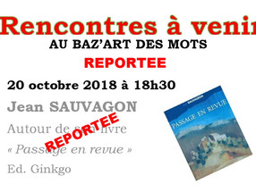 ATTENTION RENCONTRE DU 20 OCTOBRE REPORTEE