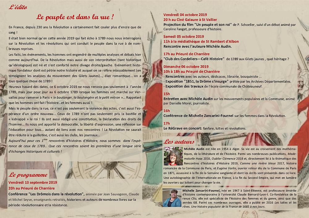 LES PREMIERES RENCONTRES D'histoires D'HISTOIRE