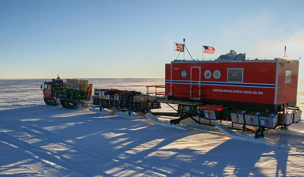 Four ice cores from continental Antarctica were drilled in East Antarctica, including two as part of the Norwegian-American International Polar Year Antarctic Scientific Traverse. Credit: Stein Tronstad