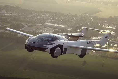 The first car that turns into a plane with the click of a button