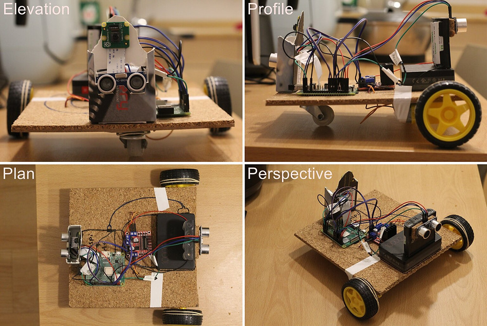 Actual Baby Robot's prototype. While prototyping it must be exposed as it is suffering constant modifications. Credit: Cañas et al.