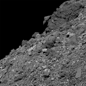 Bennu's regolith-covered surface as imaged by OSIRIS-REx