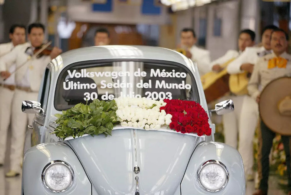 The last produced original Beetle. A total of 21,529,464 were created