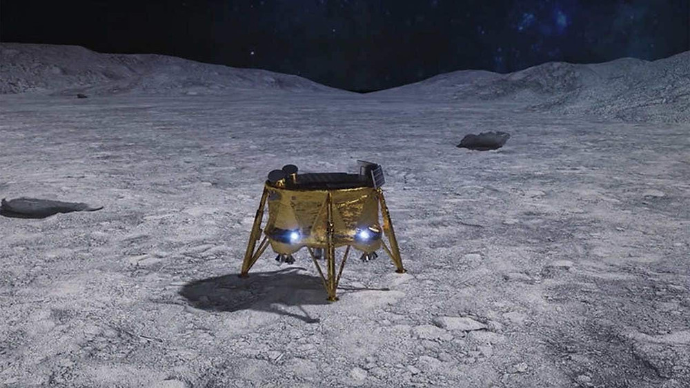 """Beresheet, which means """"In the Beginning"""" in Hebrew, was Israel's first attempt to land on the Moon. The mission was carried out by a private Israeli organisation called SpaceIL however it failed to land on the moon in April 2019, it had a massive crash. Image: SpaceIL"""