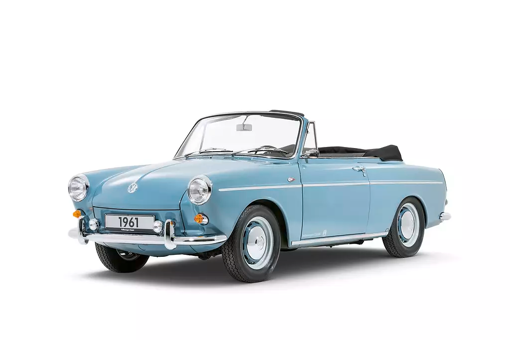 The Type 3 Cabriolet (1961) eventually gave way to the open Karmann Ghia