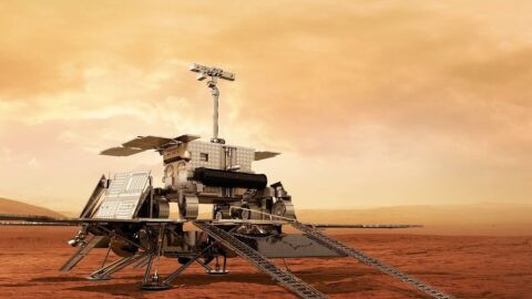 ExoMars 2022 lander imagination with Mars Rover © ESA/Roscomos/ExoMars 2022
