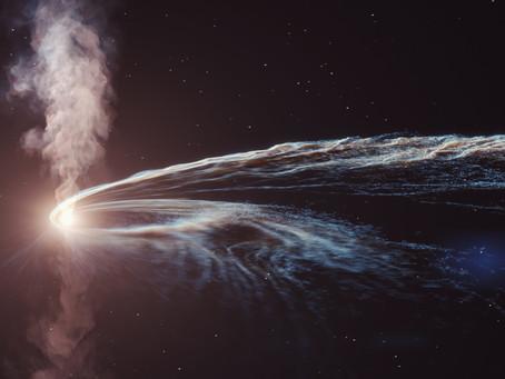 Did a black hole eating a star generate a neutrino?