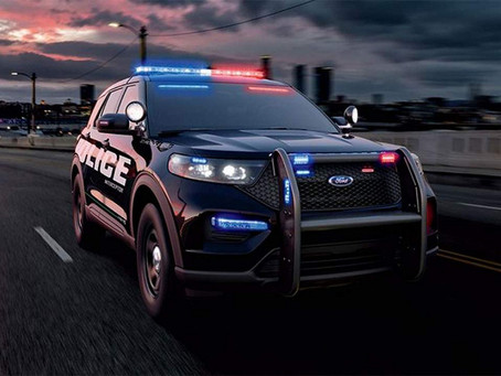 Fastest police electric car and gasoline Ford lead
