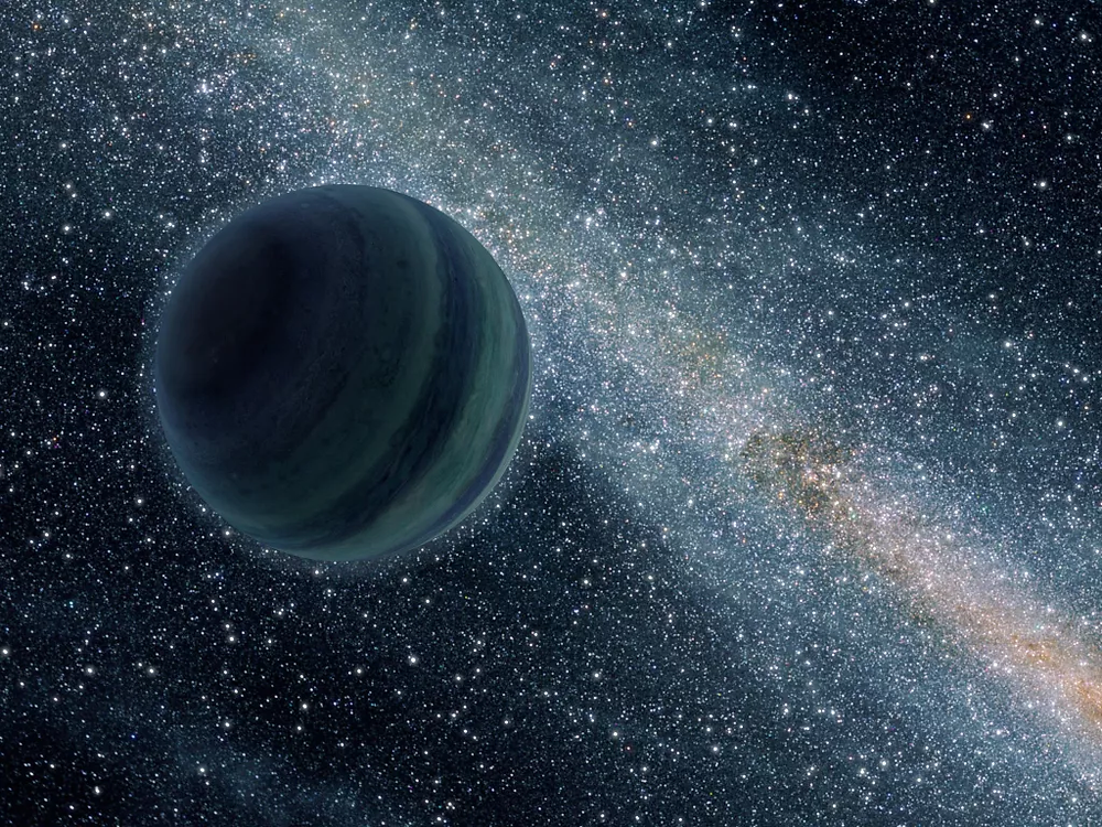 An artist's impression of a gaseous exoplanet. Large gaseous planets would accumulate more dark matter, so are good candidates for the search for this mysterious substance. (Image credit: NASA/JPL-Caltech)