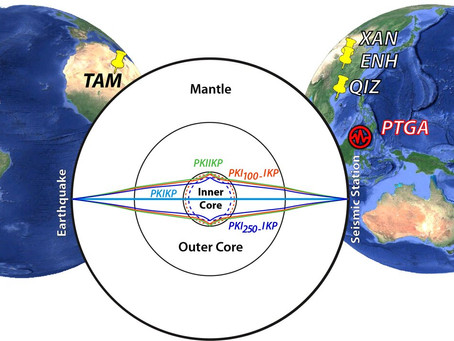 Earth's solid inner core may contain both mushy and hard iron