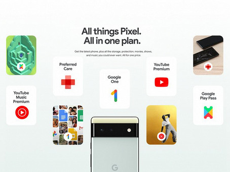 Google offers Pixel 6, 200GB in the cloud, YouTube Premium and hundreds of free apps for $45/ month