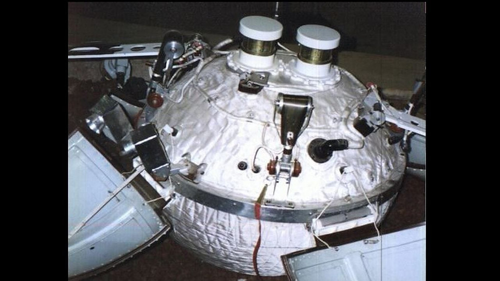 Luna 13 was the Soviet Union's second spacecraft that step on the Moon successfully. It landed on 21 December 1966 and measured the soil's physical and mechanical properties and its radiation characteristics. The mission was carried out by the Lavochkin Association which is a Russian aerospace company. Image: NASA