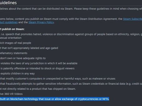 Crypto games out: Valve bans games with cryptocurrency or NFTs from Steam