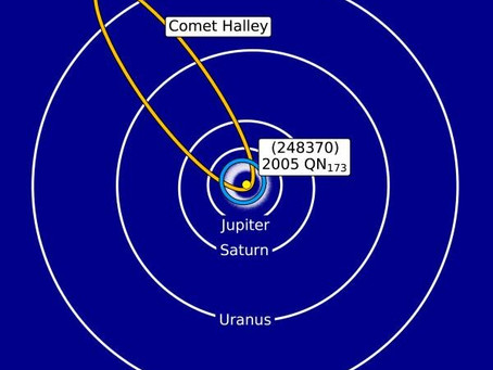 The newest known example of a rare type of object in the Solar System is an asteroid or a comet?