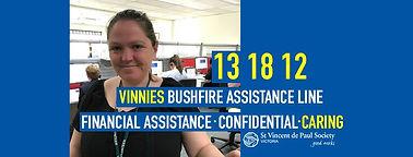 Vinnies Bushfire Assistance Line