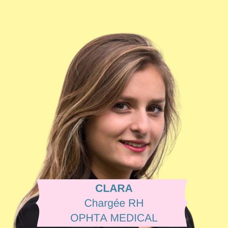 PAROLE À NOS EXPERTS : Clara, Chargée des Ressources Humaines chez Ophta Medical