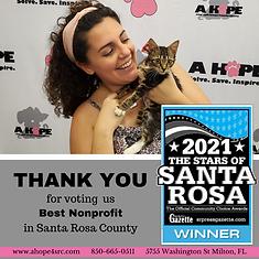 2021 Stars of Santa Rosa Florida Best Nonprofit