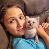 Phoebe and Kitten named Free