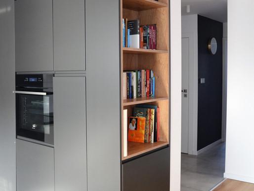 Projekt wnętrz mieszkania w wielkiej płycie- przed i po.