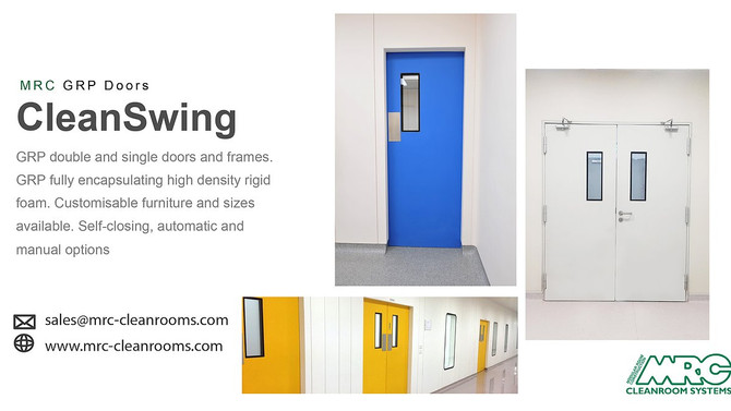 GRP Doors | Hygienic Swing Doors | MRC Cleanrooms
